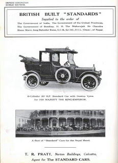 T R Pratt of Calcutta 1911 advert