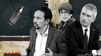 Pablo Iglesias, Fernando Grande-Marlaska y María Gámez amenazados con balas