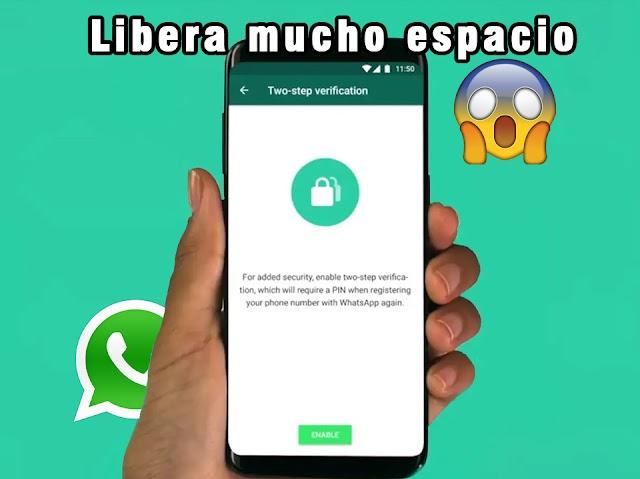 Impresionante forma de liberar espacio en tu teléfono desde WhatsApp sin borrar nada