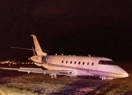 Horror!!! Cristiano Ronaldo's Private Plane Crash Lands in Barcelona...See Fresh Details (Photos)