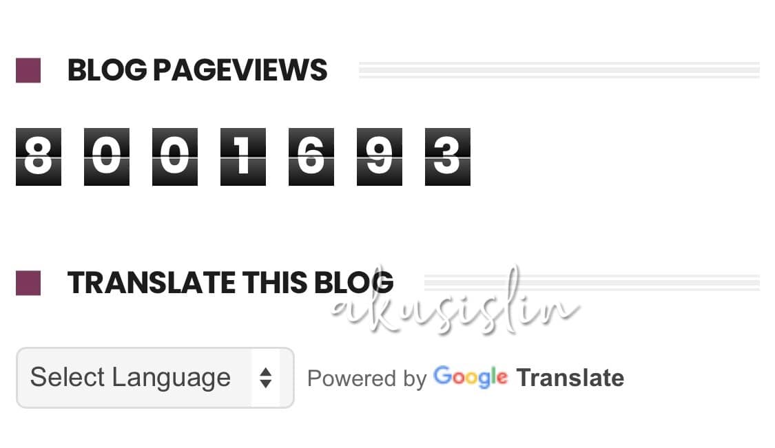 Pageviews Blog Dah Melebihi 8 Juta! Alhamdulilah!