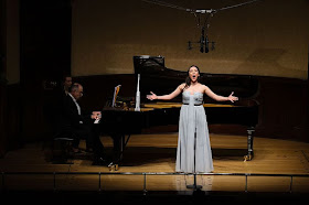 Rosa Feola & Iain Burnside performing at Rosenblatt Recitals in 2014 - photo Jonathan Rose
