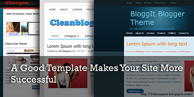 A Good Template Makes Your Site More Successful