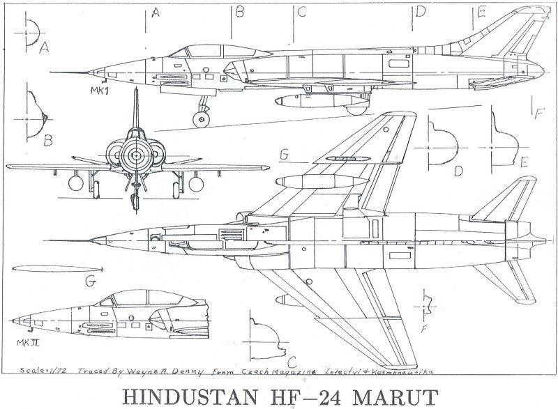 HF-24 Marut Aircraft Indian Air Force IAF - 009 - TN
