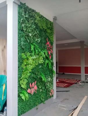 Jasa Pembuatan Vertikal Garden Sintetis - Tukang Rumput Bogor