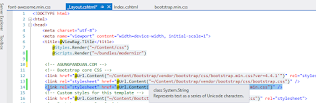 Font-Awesome ASP NET MVC