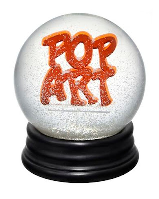 pop art snow globe