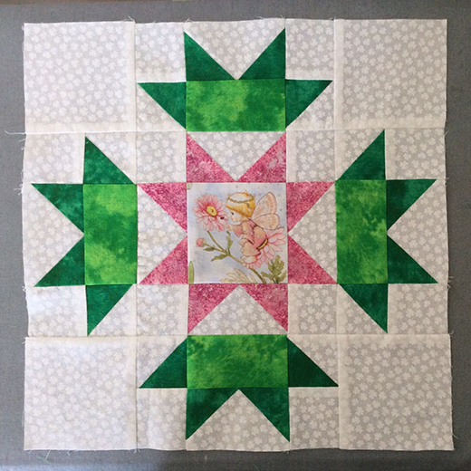 Connemara Flower Block Free Quilt Pattern