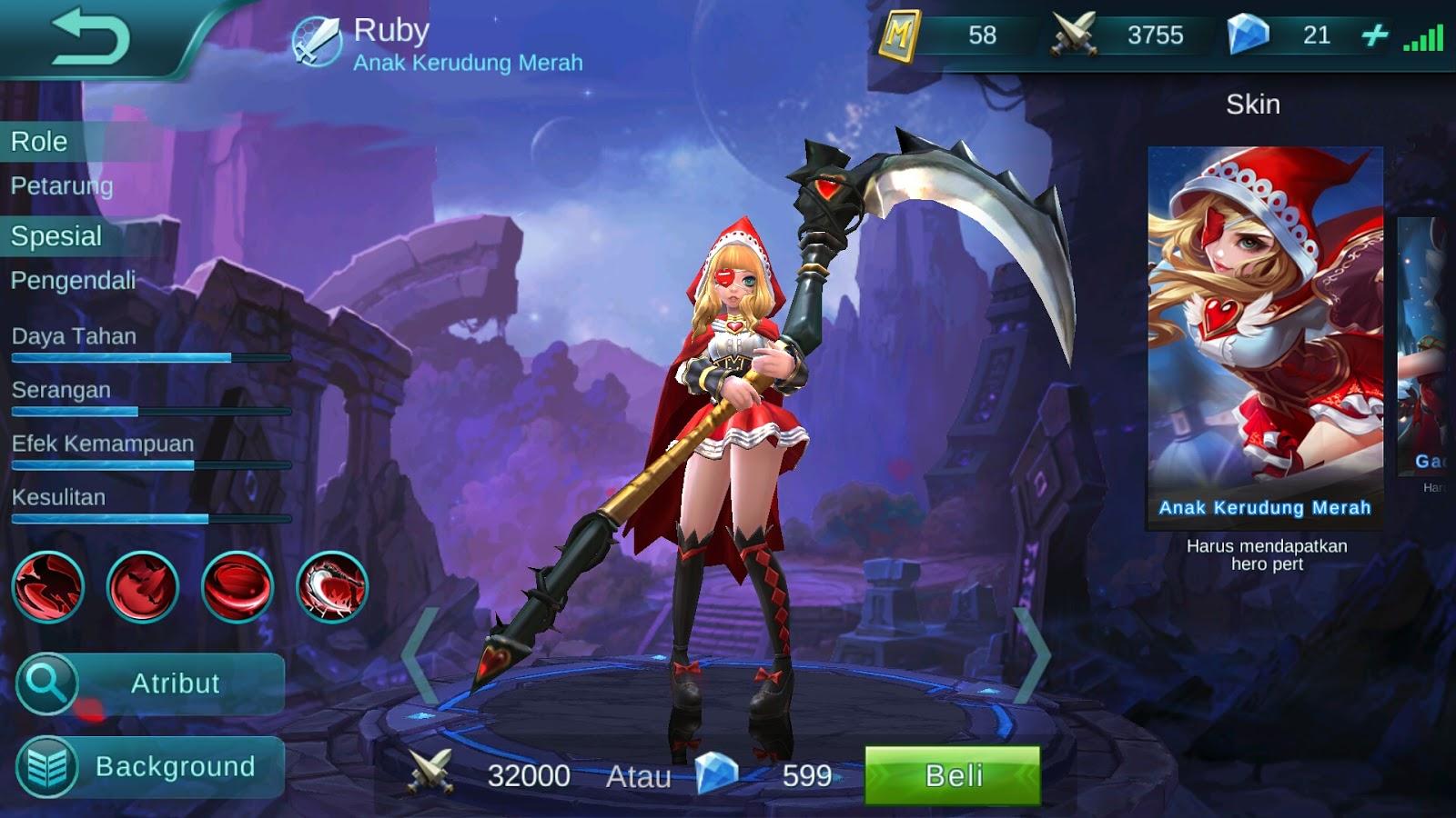 Hero Ruby Anak Kerudung Merah Dagerous Attack Build Set Up Gear DolskyCorp