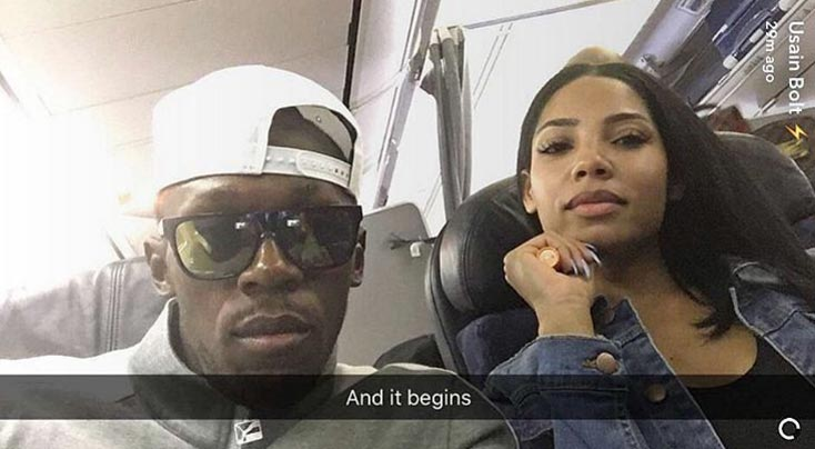 Usain Bolt is back with girlfriend Kasi Bennett after smashing London girls