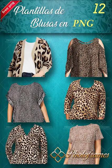 Blusas con diseño animal print para fotomontajes