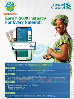 Refer and earn N2000 per referral
