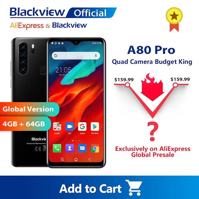 SORTEIO -  Concorra a (10) Smarphones Blackview A80 Pro