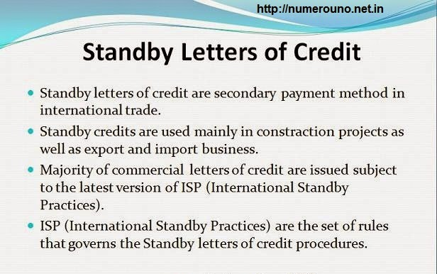 Finance To Finance Unconfirmed and Standby Letter of Credit