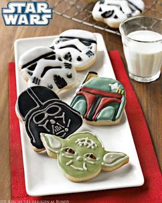 Lustige Star Wars Plätzchen für Kinder
