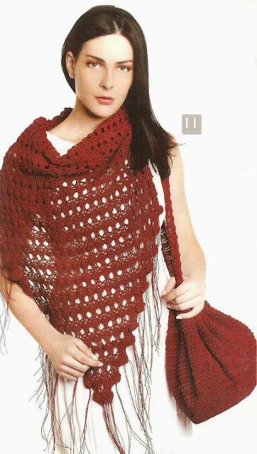 Patrón #1569: Poncho a Crochet