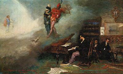 Postal de Museo del Prado, Fantasía sobre Fausto, Fortuny. Editorial Escudo de Oro