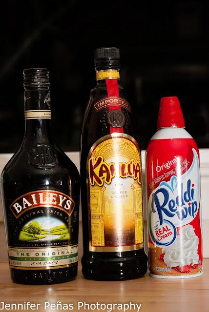 blow job shot, kahlua, Baileys, Irish Cream Liqueur, cocktail