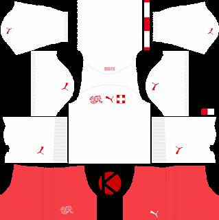 1b562768d Switzerland 2018 World Cup Kit - Dream League Soccer Kits - Kuchalana
