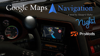 cover ets 2 google maps navigation night version for promods