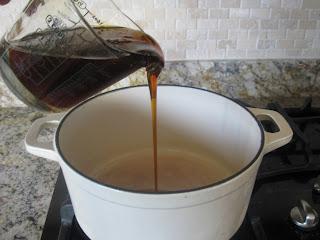 making pecan praline sauce