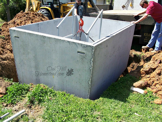 Having our storm shelter installed