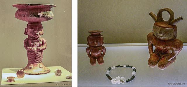 Cerâmicas pré-colombianas no Museu do Ouro de Bogotá