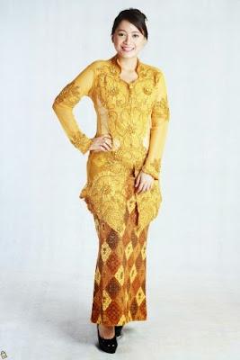Model Kebaya Pernikahan Gold Modern Terbaru