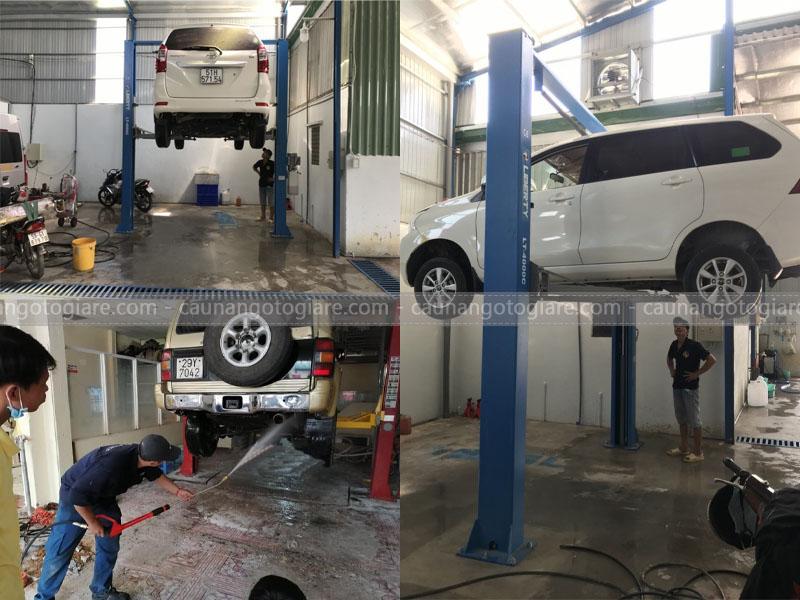 cầu nâng 2 trụ rửa xe, cầu nâng 2 trụ rửa xe được không, cầu 2 trụ có rửa xe không, có nên dùng cầu 2 trụ rửa xe