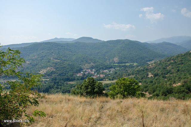 View toward Greece - St. Elijah (Св. Илија) monastery in village Dragosh, Bitola municipality, Macedonia