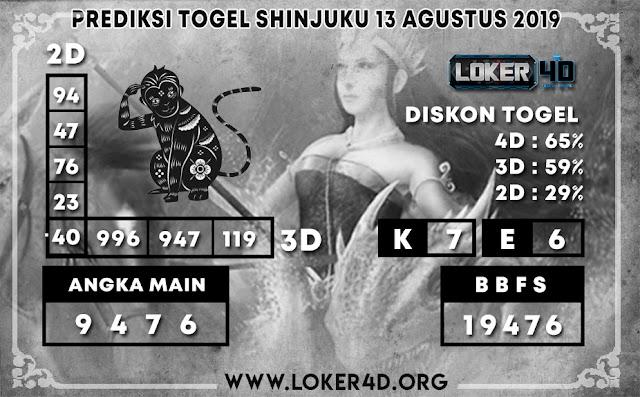 PREDIKSI TOGEL SHINJUKU POOLS LOKER4D 13 AGUSTUS 2019