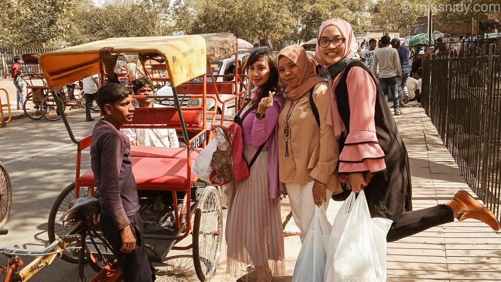 pengalaman naik rickshaw di india