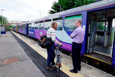 PICTURED: A happy scene at Brigg railway station recorded by Ken Harrison.