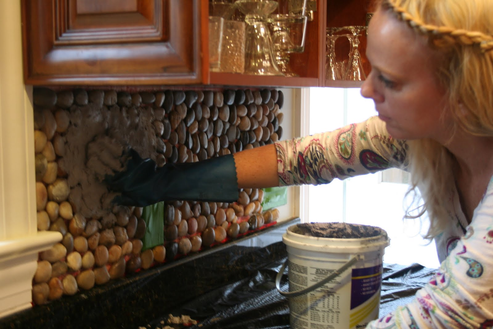 Stone Kitchen Backsplash Under Sink Organizer Garden Tutorial