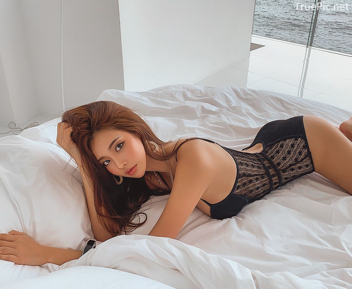 Park Da Hyun - Roald Monokini - Korean Bikini Fashion - 200208 - TruePic.net