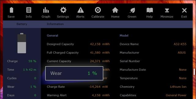 Comment connaître le pourcentage d'usure de la batterie sur pc