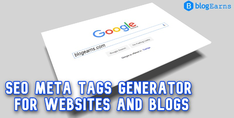 SEO meta tags generator for websites and blogs