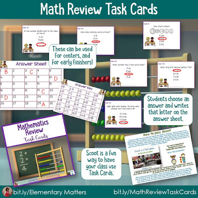 https://www.teacherspayteachers.com/Product/Task-Cards-for-Second-and-Third-Grade-Review-Math-250988?utm_source=Reviewing%20Blog%20Post&utm_campaign=Math%20Review