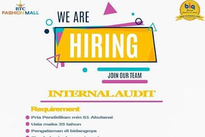 Info Lowongan Kerja Internal Audit BTC Fashion Mall Bekasi