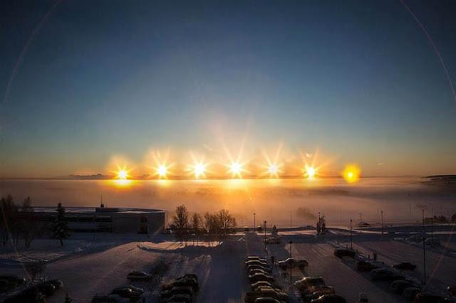 Sol da meia noite no Alasca