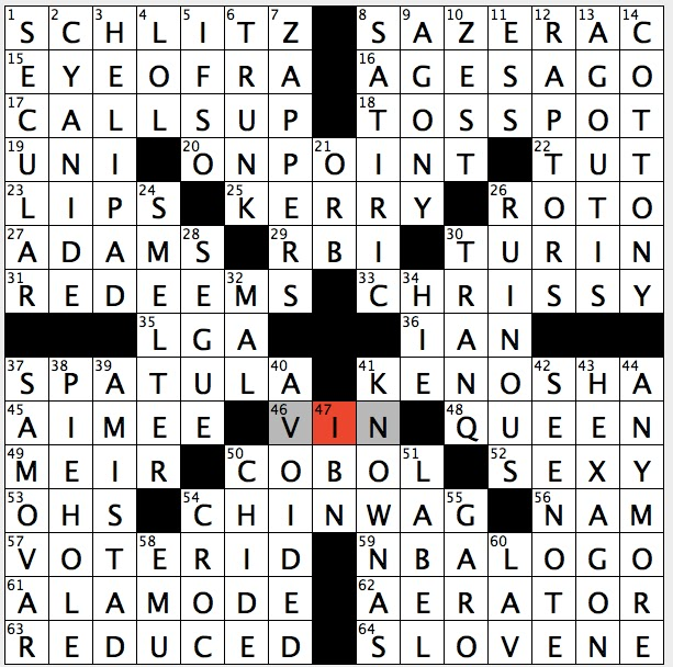 Rex Parker Does the NYT Crossword Puzzle: November 2015