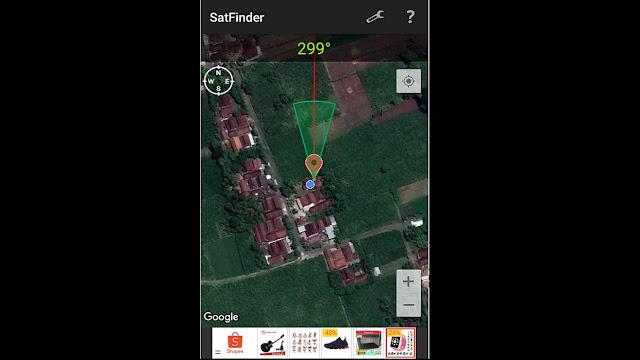 mencari sinyal parabola dengan android