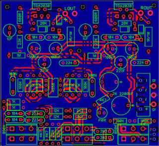 PCB Stereo TDA2030 Amplifier + Tone Control