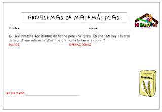 problemas de matemáticas para tercero de primaria