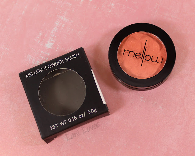 Mellow Cosmetics Powder Blush - Peach swatches & review