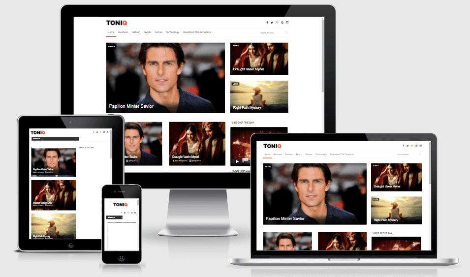 Toniq - Responsive Styles Blogger Template
