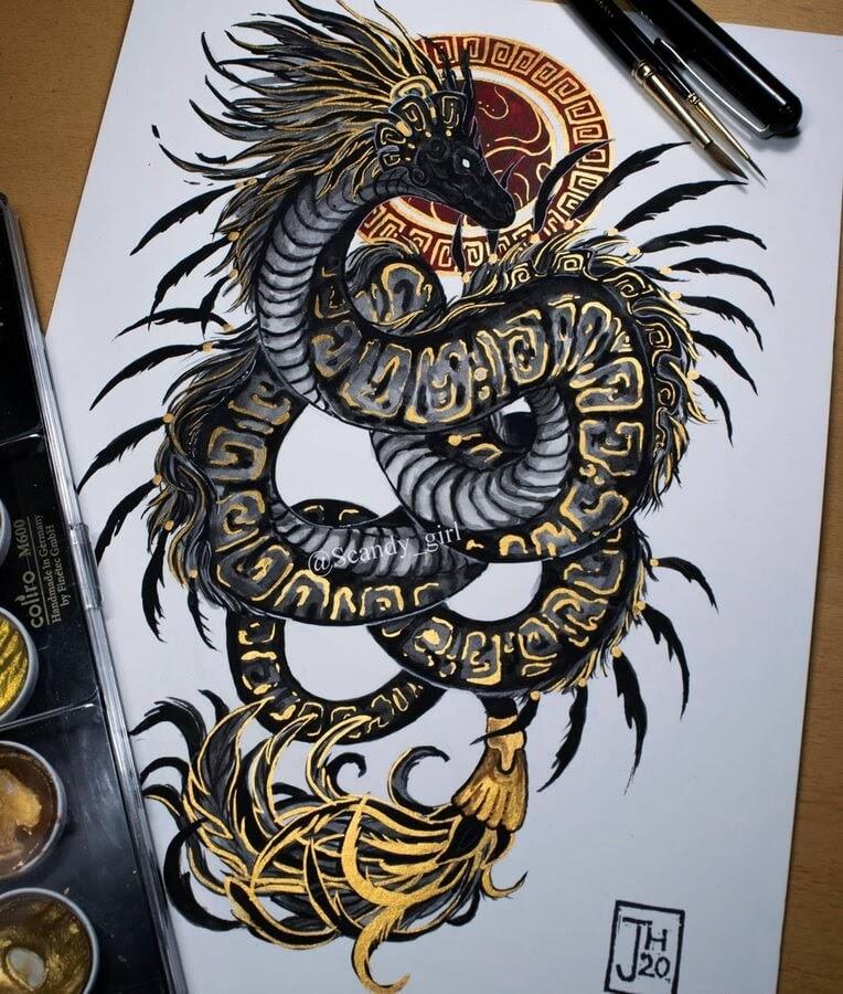 01-Quetzalcoatl-from-Mesoamerican-Mythology-Jonna-Hyttinen-www-designstack-co