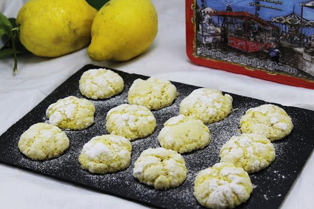 Galletas craqueladas de limón Thermomix