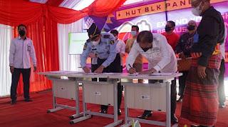 Karutan Hadiri Hari Jadi BLK Kabupaten Pangkep Sekaligus Penandatanganan Kerja Sama