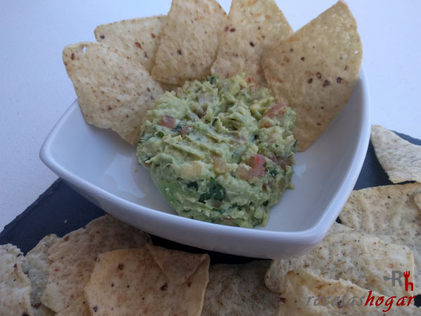 Receta del guacamole mexicano